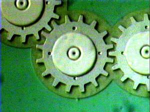 Engranes verdes viejos